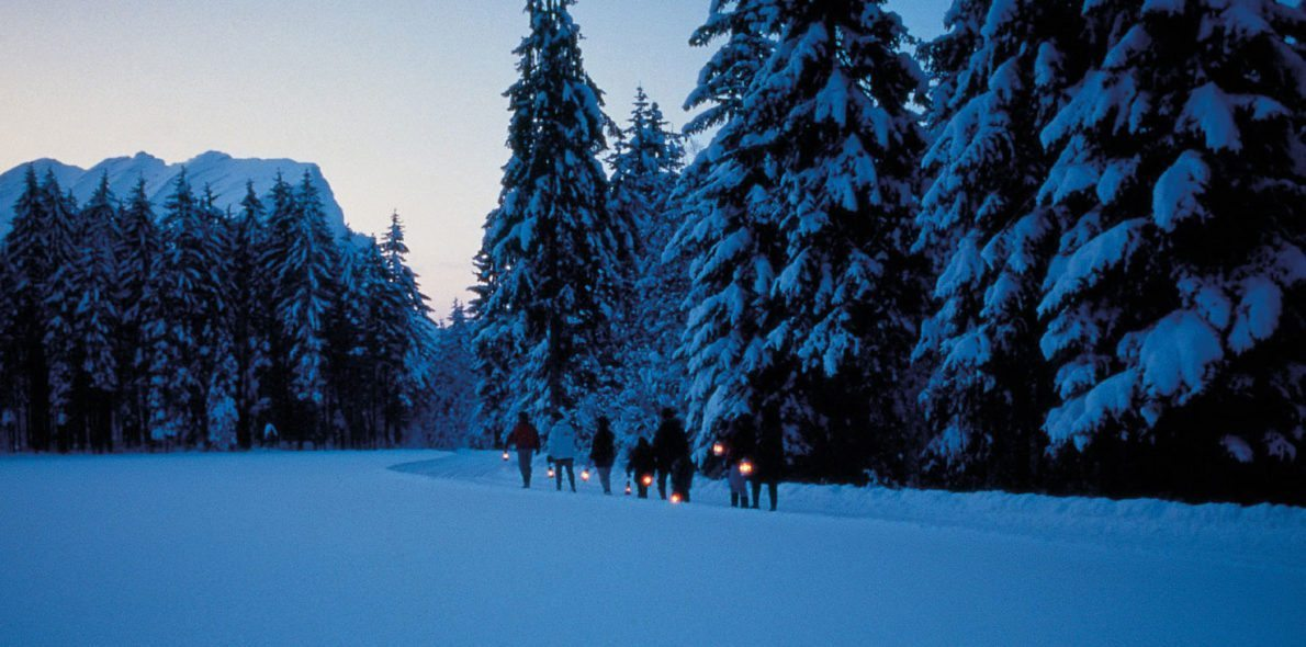 Sturmlaternenwanderung hotel krone au bregenzerwald