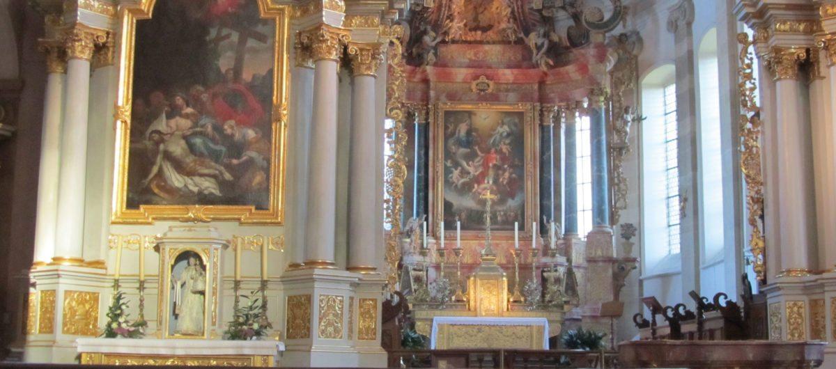 Hotel Krone Au bregenzerwald Kirche in Ebersmünster