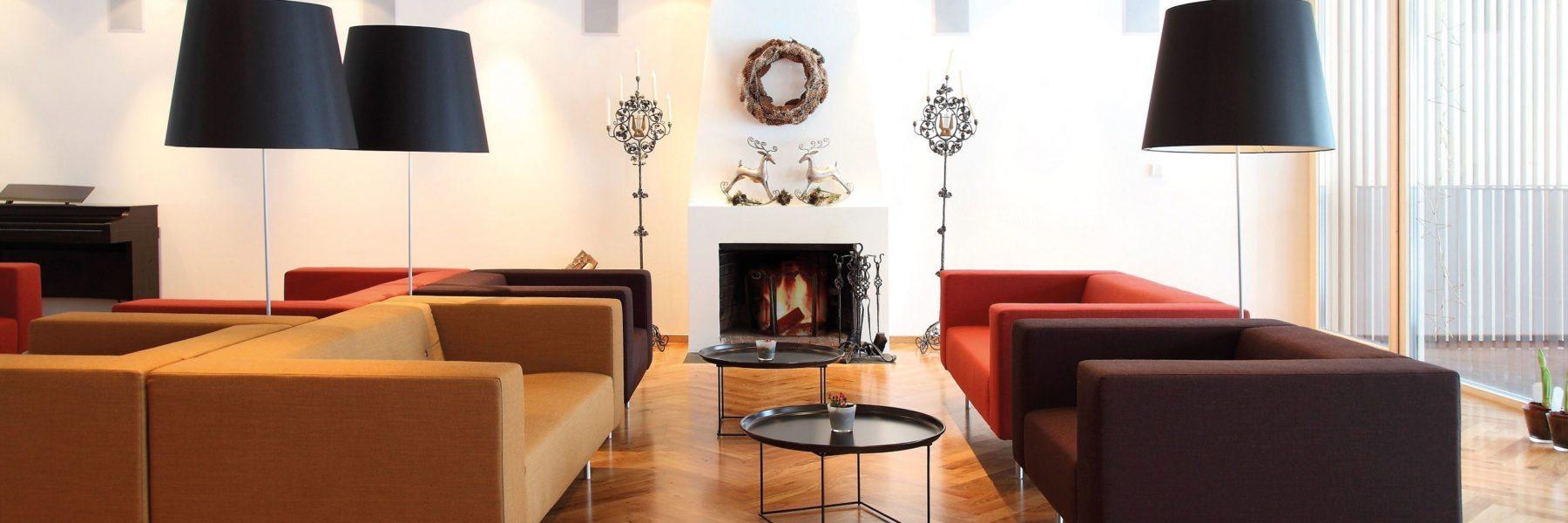 Sofa Kamin hotel krone au bregenzerwald