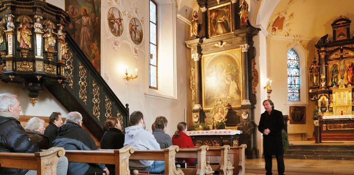 Kirchenführung Orgelmusik Pfarrkirche Au Krone