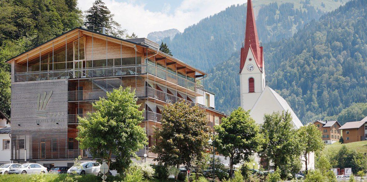 hotel krone au bregenzerwald im Sommer