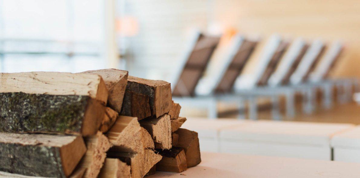 Holz für den Kamin Hotel Krone Au Bregenzerwald
