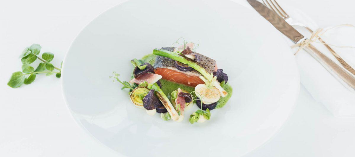 Lachsgericht kulinarik hotel krone au bregenzerwald