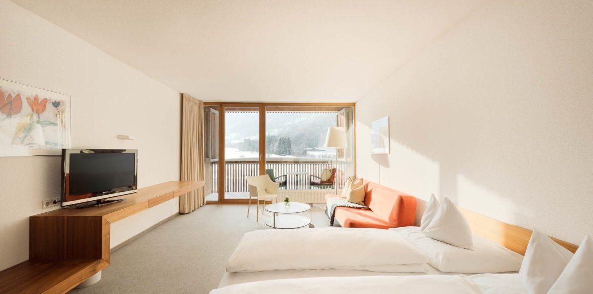 Zimmer mit Balkon bregenzerwald hotel krone au