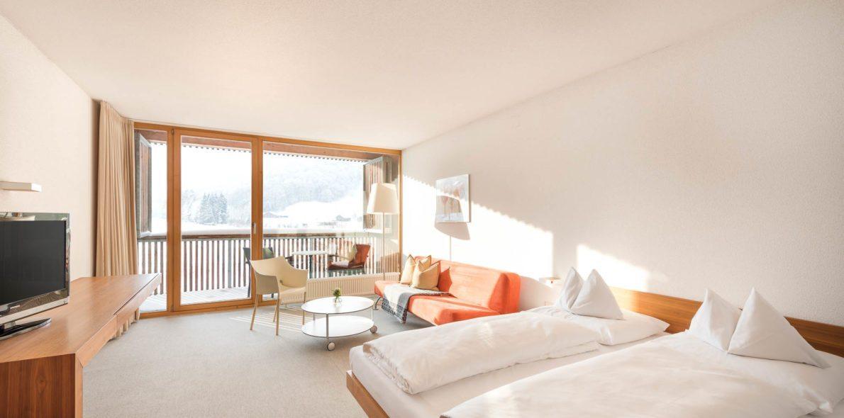 Room with balcony bregenzerwald hotel krone au