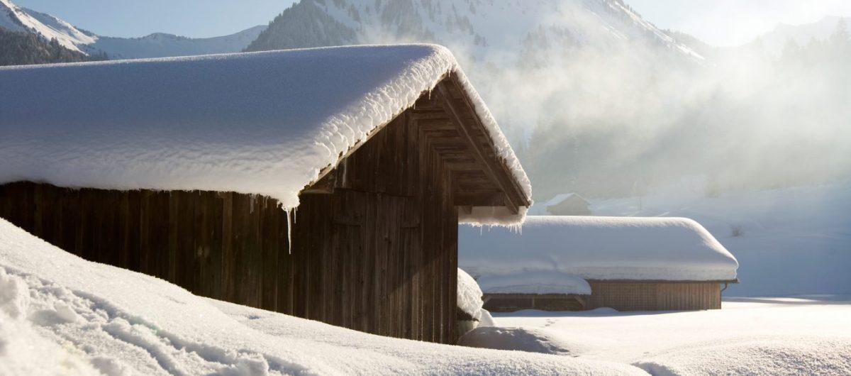 Winterlandschaft Bregenzerwald Natur Hotel Krone Au