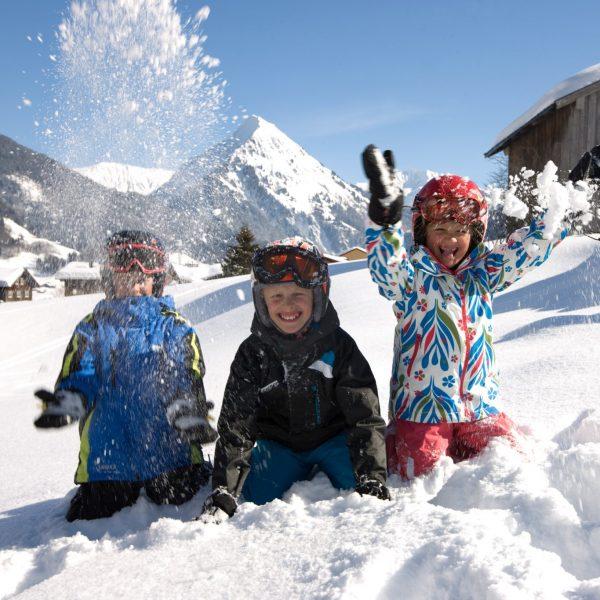 Winterlandschaft Bregenzerwald Kinder Hotel Krone Au