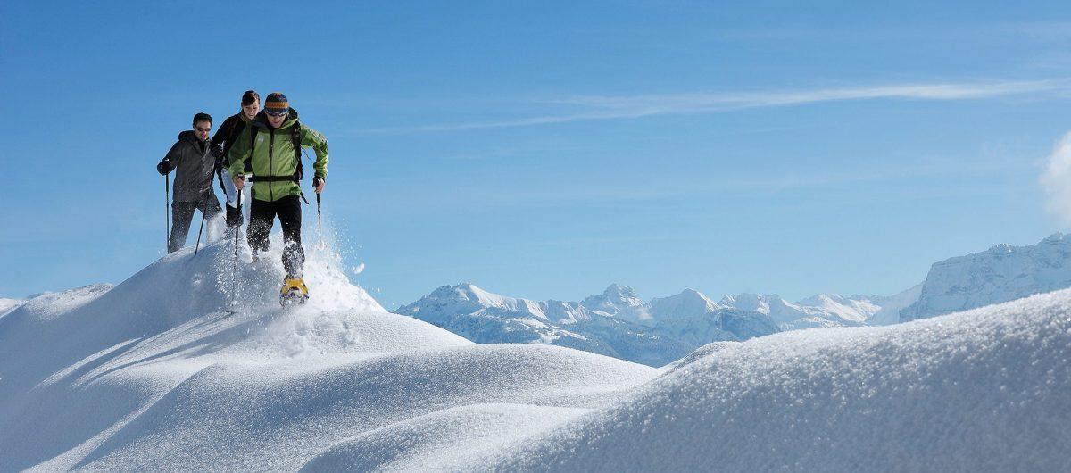 Winterlandschaft Bregenzerwald Wandern Hotel Krone Au